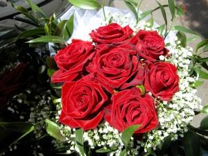 bouquet rose auto