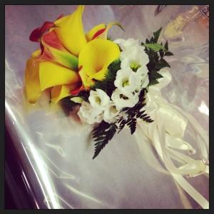 bouquet sposa lisianthus e calle