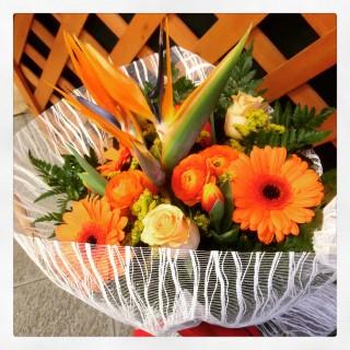 bouquet Orange - bouquet arancione