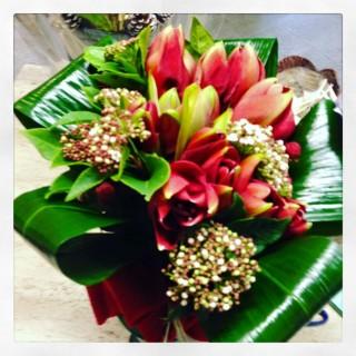 Amaryllis rosso a bouquet