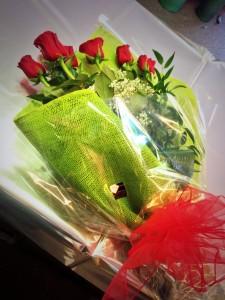9 rose rosse