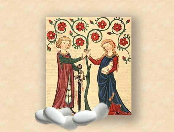 Matrimonio Tema Letterario : Matrimonio in stile medioevale abito menu ed inviti
