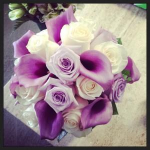 bouquet sposa lilla