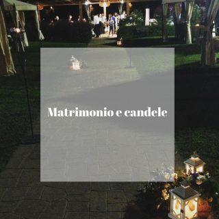 Matrimonio e candele