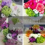 Centrotavola e decorazioni di nozze
