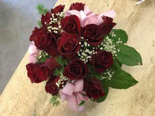 Centrotavola con rose rosse
