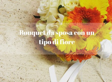 Bouquet da sposa con un tipo di fiore