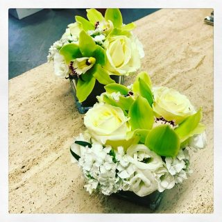 Centrotavola per nozze di smeraldo