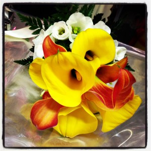 bouquet da sposa con colori autunnali