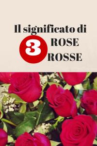 significato di 3 rose rosse
