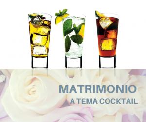 matrimonio tema cocktails