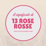 Significato di 13 rose rosse