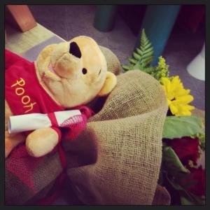 rose rosse e winnie pooh