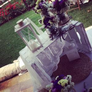 tavolo buffet matrimonio con cassetta frutta