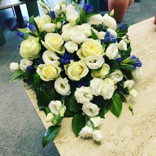 Matrimonio bianco e blu centrotavola
