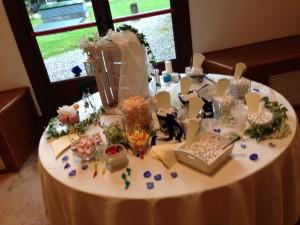 tavolo confettata e caramelle