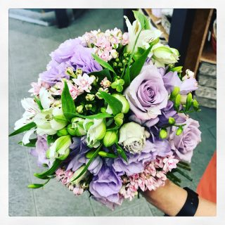Bouquet sposa con tonalità lilla