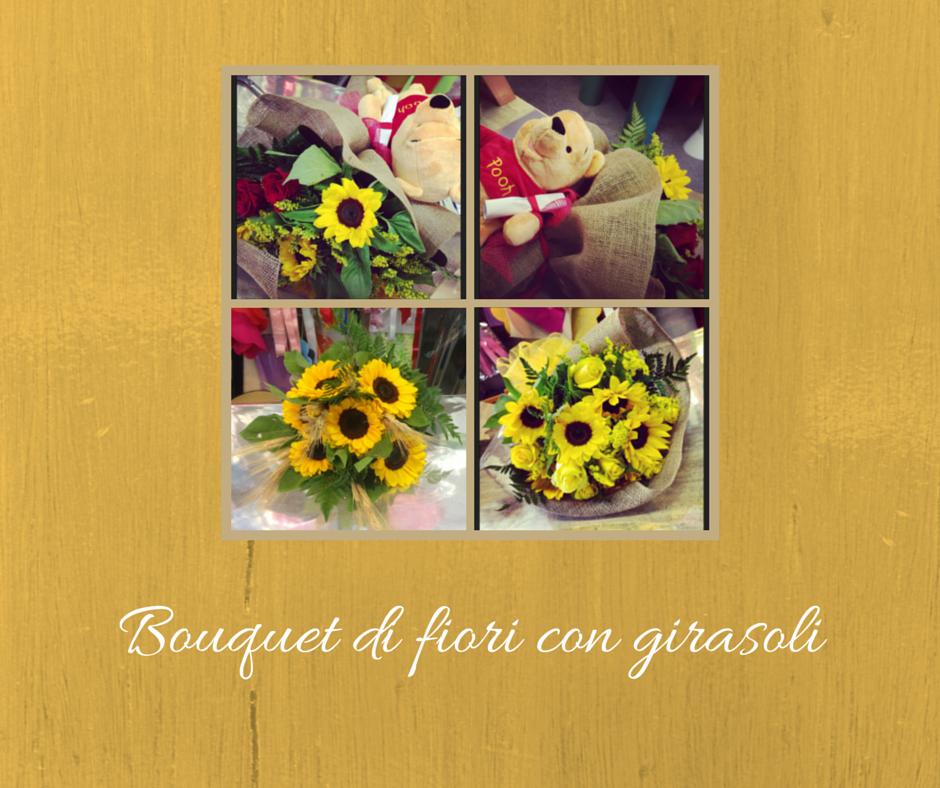 Composizioni Con Girasoli Matrimonio : Bouquet di fiori con girasoli un elenco varie composizioni