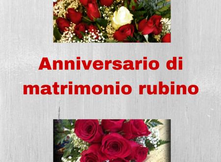 Anniversario di matrimonio, nozze di rubino