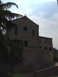 la chiesa di Arquà Petrarca
