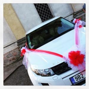 auto matrimonio color rosso