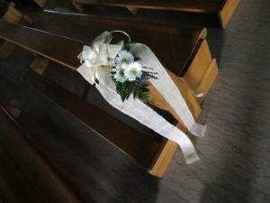 corsia di fiori matrimonio