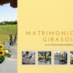 Matrimonio con girasoli