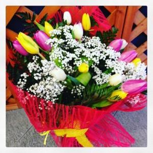 bouquet di tulipani, fiori invernali