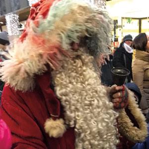 Un incontro molto ravvicinato con Babbo Natale a Padova