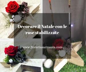 Decorare il Natale con le rose stabilizzate