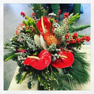 Centrotavola Natale in stile country chic