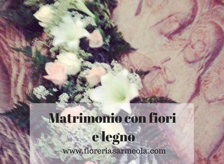 Matrimonio con fiori e legno