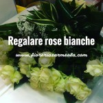 Regalare rose bianche
