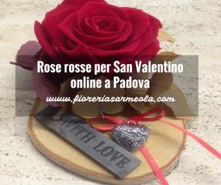 Rose rosse per San Valentino online a Padova