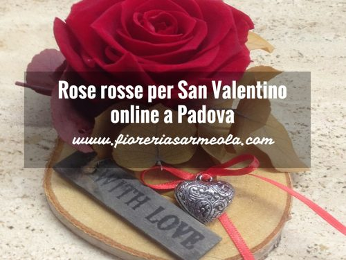 Rose rosse online a Padova per San Valentino