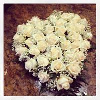 cuore rose per funerali