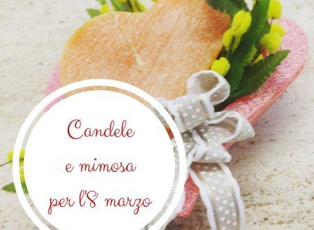 Candele e mimosa per l'8 marzo