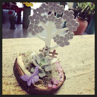 Albero pasquale con succulente