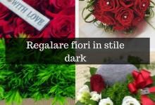 Regalare fiori in stile dark