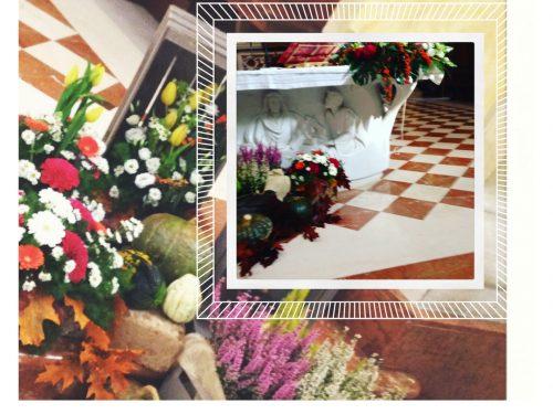 Una ricetta con fiori e zucca per il mese di Ottobre