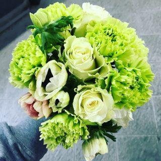 Bouquet da sposa color verde