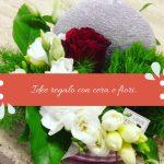 Idee regalo con cera e fiori.