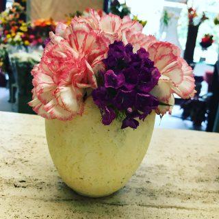 uovo con fiori
