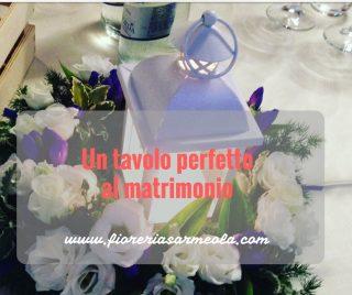Un tavolo perfetto al matrimonio