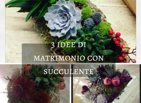 3 idee di matrimonio con succulente