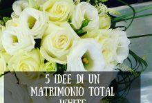 5 idee di un matrimonio total white