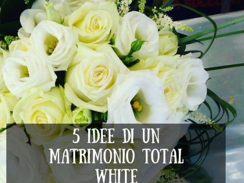 5 idee di un matrimonio total white