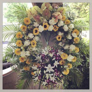 Corona fiori funerale