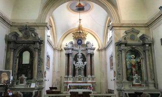 Interni chiesa san Sabino a Torreglia