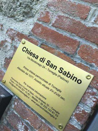 contatti chiesa San Sabino Torreglia
